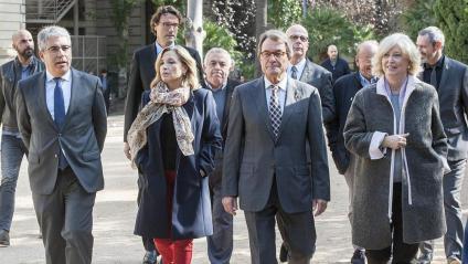 Artur Mas, Irene Rigau, Joana Ortega, Francesc Homs i altres condemnats pel Tribunal de Comptes, ahir als jardins del Palau Robert