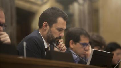 Rogent Torrent, president del Parlament, en una sessió a la cambra catalana