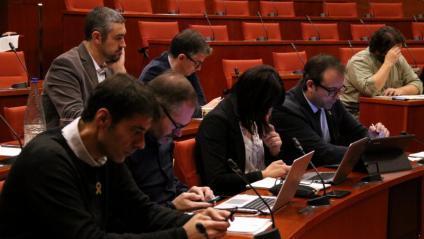 Una imatge de la comissió d'Afers Institucionals del 31 d'octubre passat
