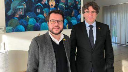 El vicepresident Aragonès amb Puigdemont