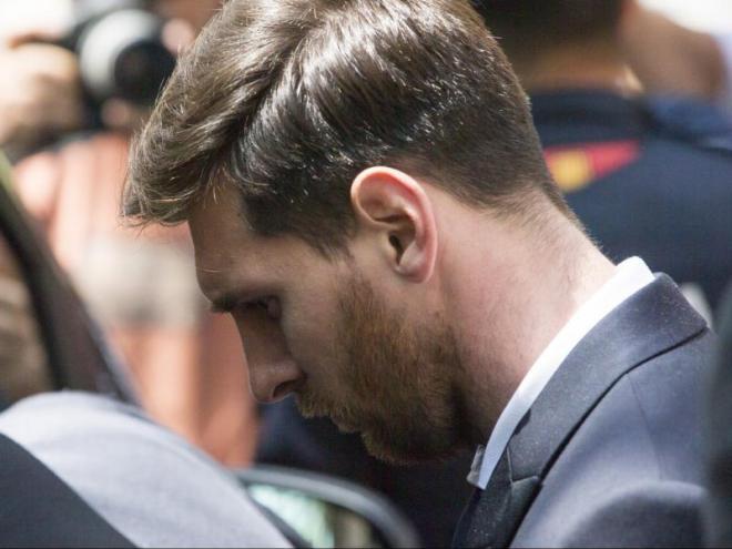 Messi quan va declarar a l'Audiència Nacional