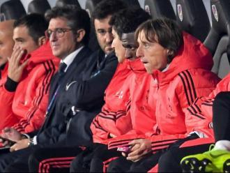 Luka Modric a la banqueta del Real Madrid en un partit d'aquesta campanya
