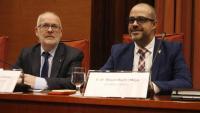 El secretari general de l'Interior, Brauli Duart, amb el conseller de l'Interior, Miquel Buch