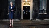 Theresa May compareix al davant del 10 de Downing Street