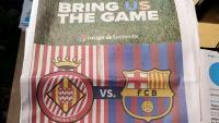 L'anunci del partit Girona-Barça en el 'Miami Heralrd'