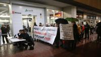 L'acte va ser organitzat ahir a la tarda davant l'estació de Renfe de Girona