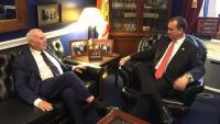 El conseller d'Acció Exterior de la Generalitat, Ernest Maragall, amb el congressista republicà dels Estats Units, Mario Diaz-Balart