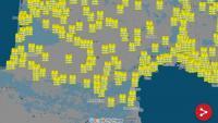 Mapa dels organitzadors amb els bloquejos previstos a Catalunya Nord i part d'Occitània