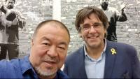 L'artista i dissident xinès AI Weiwei i el president Puigdemont parlaran de drets humans, democràcia i presoners polítics a Brussel·les