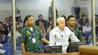 Khieu Samphan durant el seu judici al tribunal internacional de Cambodja, a Phnom Penh
