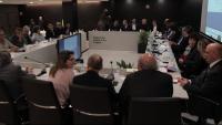 La reunió d'alcaldes i edils de municipis de la Costa Brava, ahir, a Platja d'Aro, per presentar-los els plans del departament per accelerar el nou PDU de sòls i sectors no sostenibles al litoral gironí