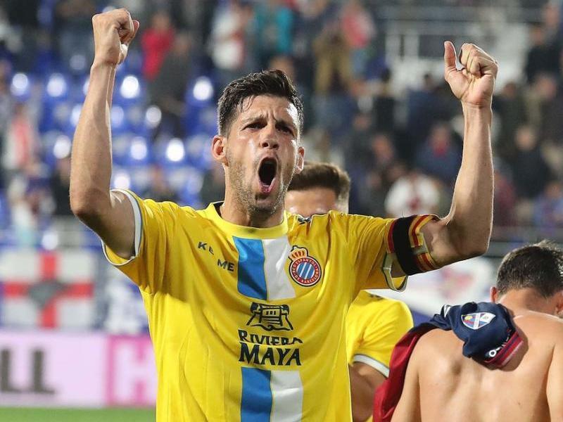 Javi López, feliç després d'un triomf. El capità retrata en aquesta entrevista amb L'Esportiu el moment de l'Espanyol
