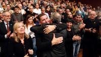 Quim Torra abraça Arnaldo Otegi a Sant Sebastià