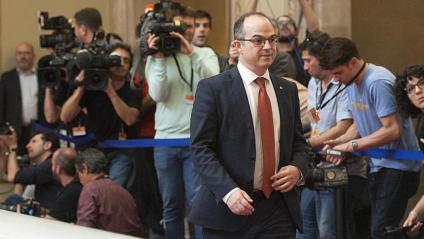 Jordi Turull en una imatge al Parlament el 27 d'octubre del 2017