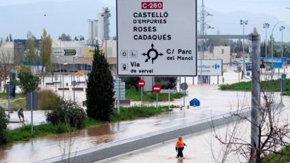 Una imatge de la zona inundada de Vilatenim