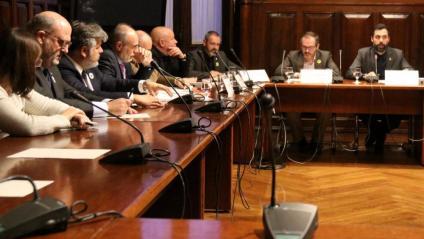 Pla de la sessió constitutiva de la Comissió del Reglament del Parlament