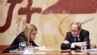 Elsa Artadi i Quim Torra, a la reunió de l'executiu català