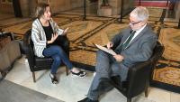 La portaveu d'ERC al Parlament, Anna Caula, durant una recent entrevista per al Punt Avui Televisió