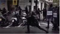 Un escopeter de la policia espanyola, durant l'1-O