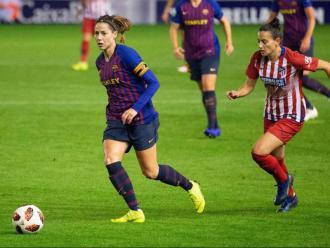 Vicky Losada, durant en partit contra l'Atlético al Miniestadi