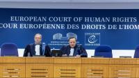 Jutges del Tribunal Europeu de Drets Humans, dictant sentència en el cas de l'opositor rus Navalni, aquest mes