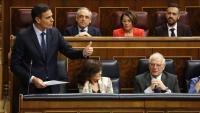 El president del govern espanyol, Pedro Sánchez, al Congrés aquest matí