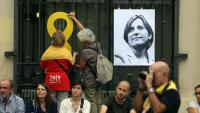 Imatge de Carme Forcadell en una acte de suport a Sabadell