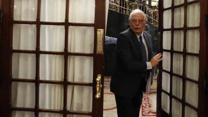 El ministre Josep Borrell, al Congrés