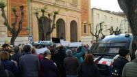Concentració davant l'església de Sant Pau de Tarragona