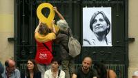 Imatge d'un acte de suport a Forcadell a Sabadell