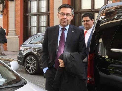 El president del Barça, Josep Maria Bartomeu, es va veure ahir amb els presos polítics catalans