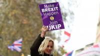 Manifestació contra l'acord del 'Brexit' de May, ahir a Londres
