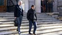 L'exdiputat de CiU Oriol Pujol sortint de l'Audiència