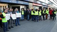 Examinadors de trànsit a la protesta a Barcelona