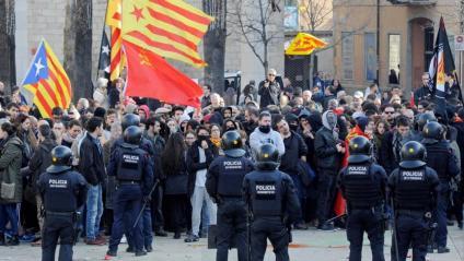 El desplegament dels Mossos a Girona i Terrassa ha estat polèmic