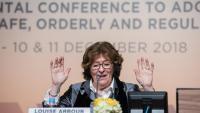 Louise Arbour, representant del secretari general de l'ONU per a les migracions internacionals, a Marràqueix