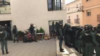Intervenció de la Guàrdia Civil l'1-O a Fonollosa