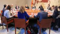 Els consellers i Torra a la reunió del Consell de Govern aquest matí