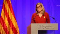 La consellera de la Presidència i portaveu del Govern, Elsa Artadi, en una roda de premsa