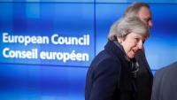La primera ministra britànica, Theresa May, avui abans de reunir-se amb el president del Consell Europeu, Donald Tusk