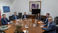 L'equip negociador del PP i Cs, reunit ahir a Sevilla