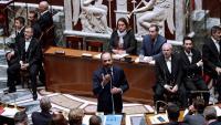 Philippe, primer ministre francès, ahir, en la sessió parlamentària de control al govern