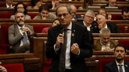 El president, Quim Torra,al Parlament