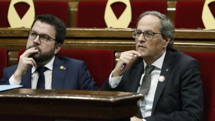 El vicepresident Aragonès i el president de la Generalitat, Quim Torra