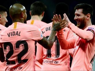 Arturo Vidal i Leo Messi, peces clau dissabte a Cornellà-el Prat