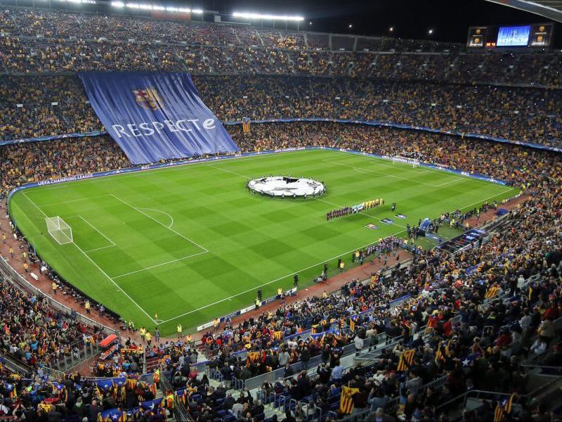 Vista general del Camp Nou abans del Barça-BATE de la temporada 2015/16