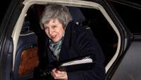 May, primera ministra britànica, arribant ahir a Downing Street