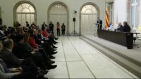 La presentació del manifest  es va fer a l'auditori del Parlament, i va reunir nombroses autoritats