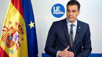 El president espanyol, Pedro Sánchez, ahir, a Brussel·les