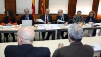 Una reunió de la sala del govern del TSJC, a l'Audiència de Tarragona